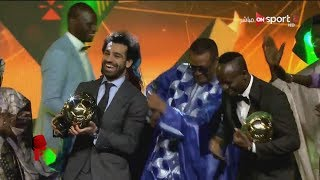 محمد صلاح افضل لاعب في افريقيا 2018 | رقصة صلاح