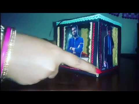DIY for rakshabandhan, explosion box, transparent wall