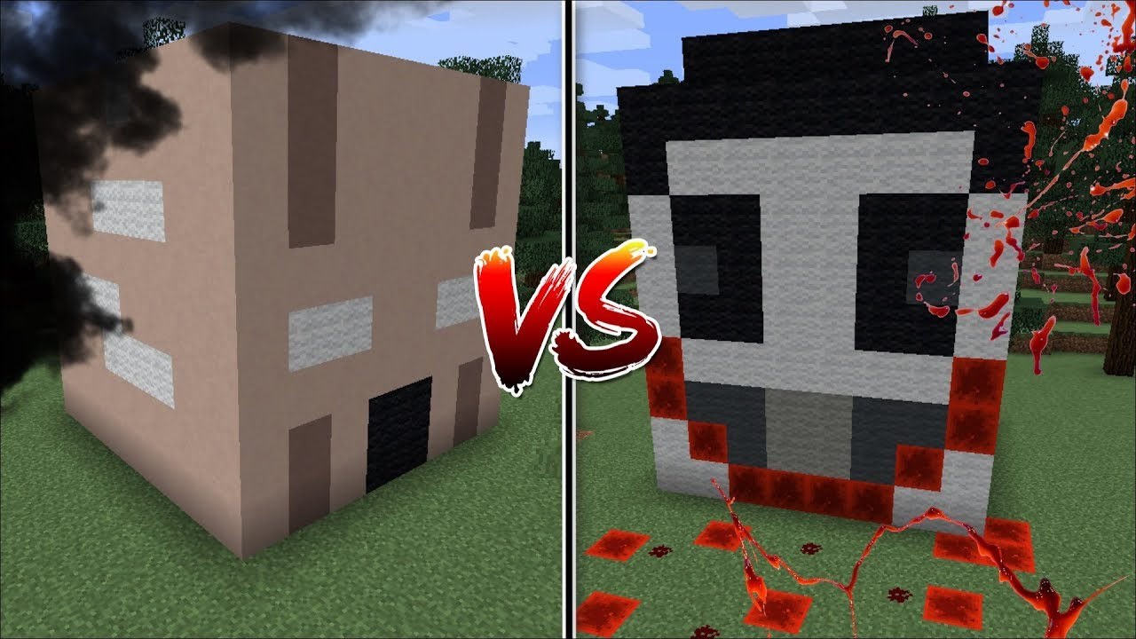 Minecraft GRANNY HORROR HOUSE VS JEFF THE KILLER HOUSE MOD / BUILD BATTLE !! Minecraft