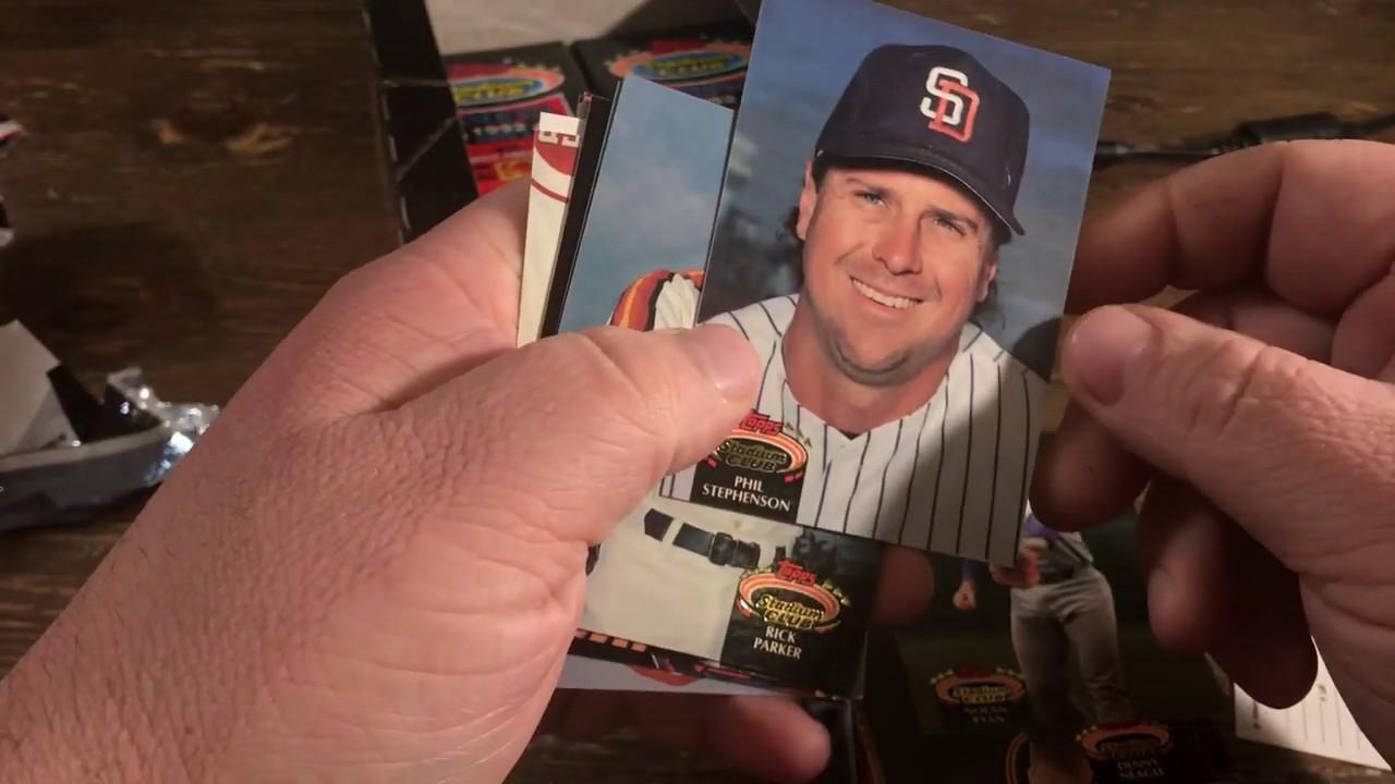 Opening A Box Of 1992 Stadium Club Baseball Cards Series 3 Box Break