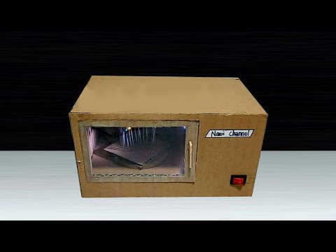 How To Make A Microwave From A Cardboard Youtube