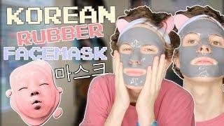 TRYING A WEIRD KOREAN FACE MASK