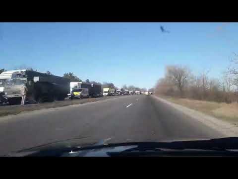 Moy gorod: На трассе Н-24 в Новоодесском районе пытаются достать из кювета грузовик