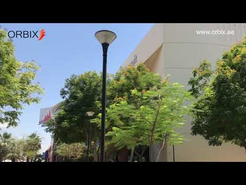 Orbix Solar Garden-Bollard Light Installation @ Microsoft Dubai #solar #dubai #ledlight #lightpole