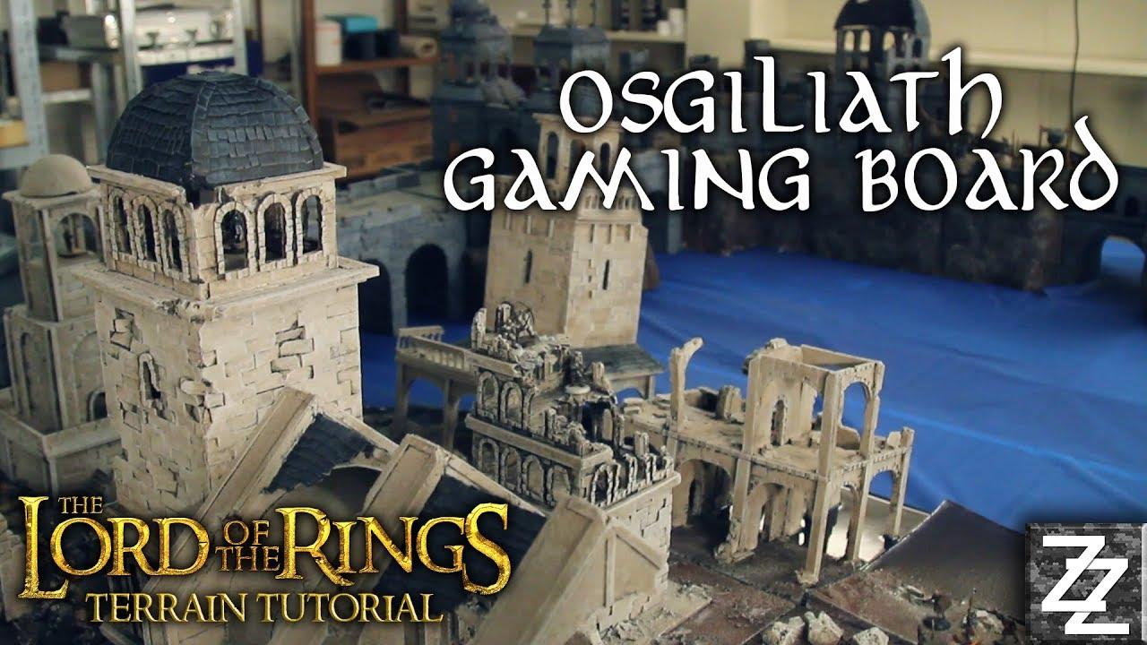 Osgiliath Lord Of The Rings Huge Gaming Board Terrain Tutorial
