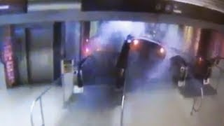 Leaked CCTV: Chicago metro crash footage - train climbs escalator