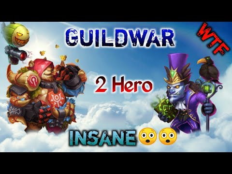 Jumbear And Walla | Two Hero Guildwar 😲😲😲 | Crazy Raids | Hero Set Up | Evolution | Castle Clash