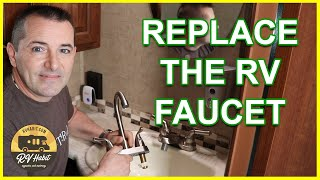 How To Replace And Install An RV Bathroom Faucet – RV Upgrades – RV Mods