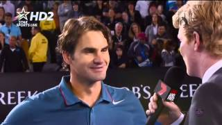 Roger Federer interview after Murray match Australian Open 2014