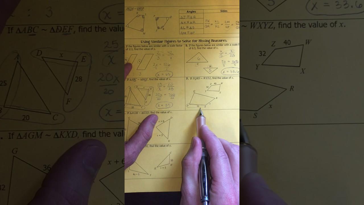 Unit 24: Similar Figures (Examples) - YouTube In Similar Figures Worksheet Answers