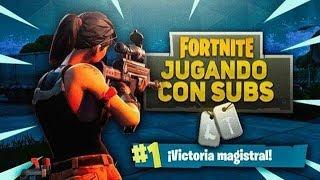 JUGANDO SCRIMS CON SUBS [En Solo, Duo y Escuad]  Fortnite PS4 ARGENTINA