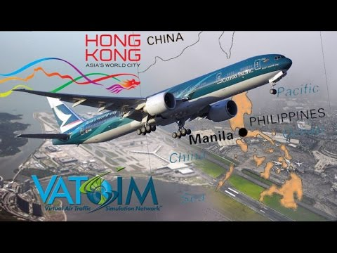 PMDG 777 Hong Kong World City To Manila On Vatsim
