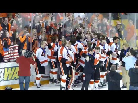 Grand Rapids Hockey vs Duluth East Sec 7AA Finals-Last 2 Minutes-Rapids WINS 6 to 5-Feb 25th 2016