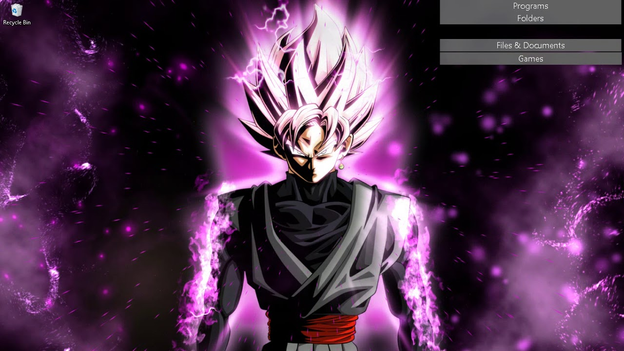 Black Goku Wallpaper Engine Dragonball Youtube