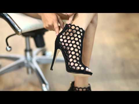 Tracey @ KlassyKassy.com (bootie open toe high heel shoes) from YouTube · Duration:  1 minutes 5 seconds