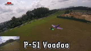 Dog Fight! Racing Drone chasing the P-51!