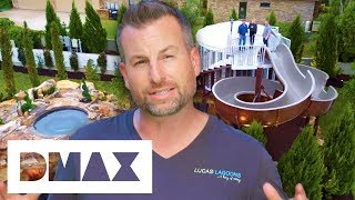 Lucas Builds An Epic Pool With A Massive Treehouse And A ParkSized Slide | Insane Pools