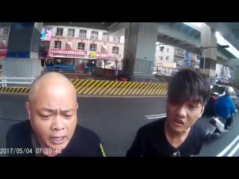 Taiwan dangerous criminal car driving, violent threat!