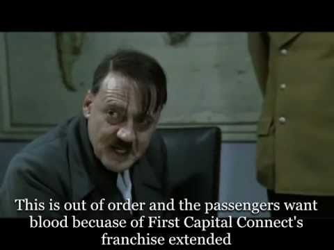 Hitler hears the news on First Capital Connect franchise extended