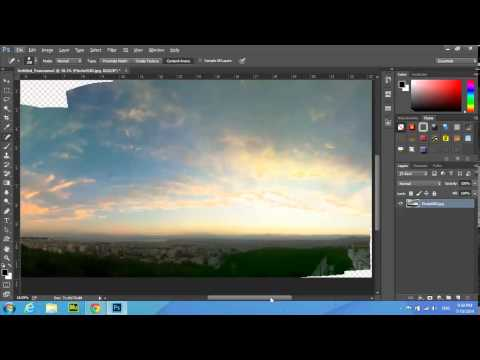 Adobe Photoshop cc Panorama ( photo-merge technique )tutorial for beginners - GREEK