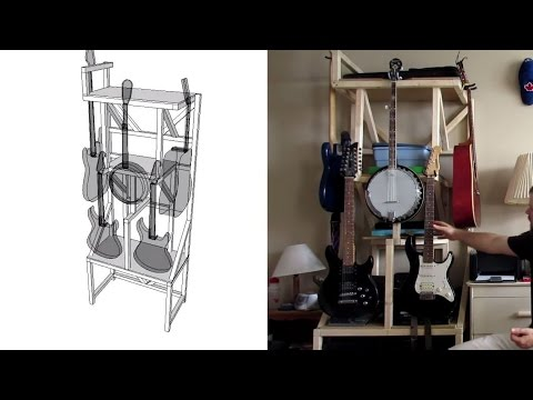 How to Build a Musical Instrument Storage Rack