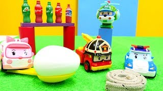 Robocar Poli juguetes hacen deporte. Vídeo para niños.