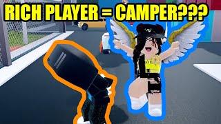 RICH JAILBREAK PLAYER is a CAMPING COP?? | Roblox Jailbreak