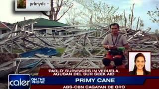 Pablo survivors in Veruela, Agusan del Sur seek aid