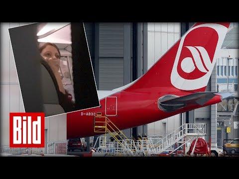 Air Berlins trauriger Abschied - Stewardess verabschiedet sich weinend