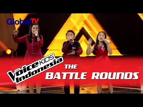 Charisa vs Alif vs Michelle Just Give Me A   The Battle Rounds  The Voice Kids Indesia 2016