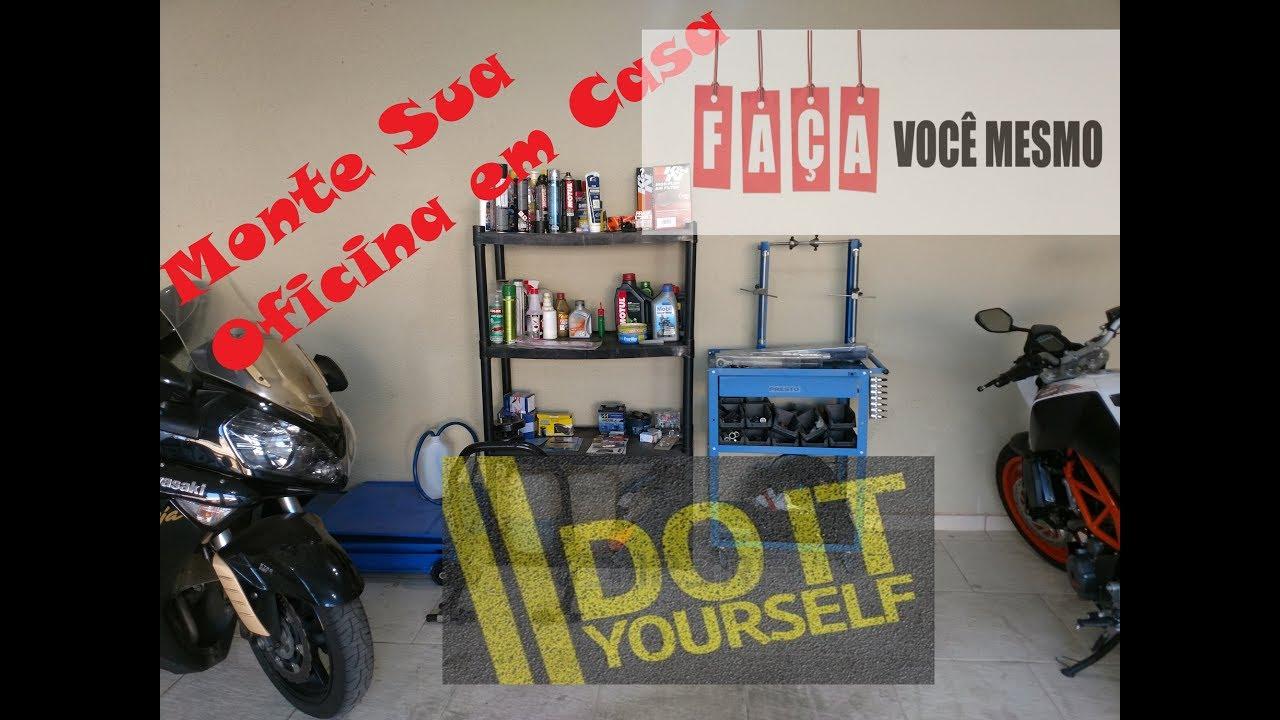 2f583f76f57 Monte sua oficina de moto em casa   faça você mesmo. Do it yourself ...