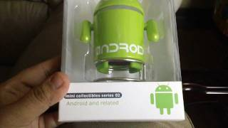 Android Robot Speaker MP3 FM Radio Play Sound Box micro sd [HD]