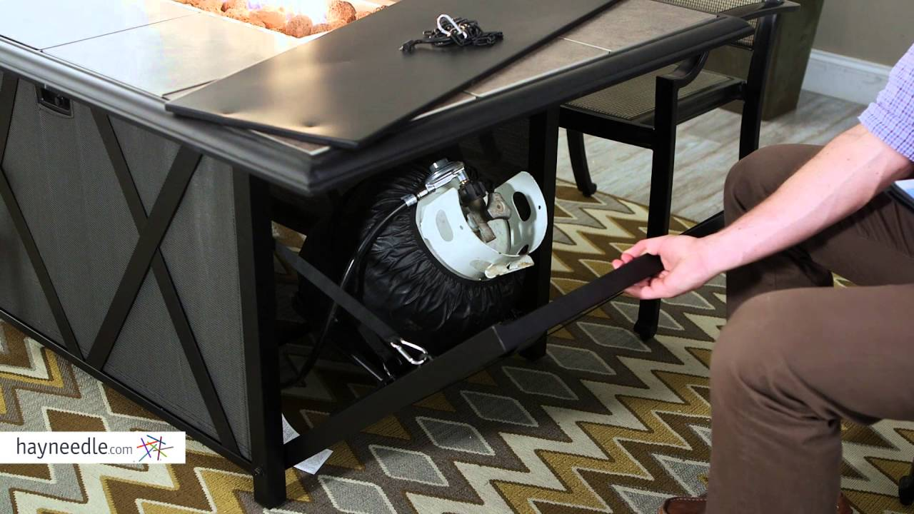 Belham Living Tulie 7 Piece Aluminum Fire Pit Patio Dining Set Product Review Video Youtube