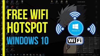 Turn Windows 10 PC into a Free Wifi Hotspot (Router) NO CMD | Share PC's Internet With Other Devices