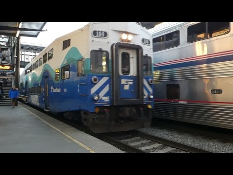 シアトル・サウンダーコミューターレール Sounder commuter rail Seattle King Street Station