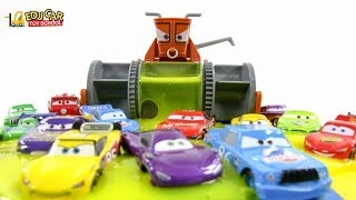 Learning Color Disney Pixar Cars Lightning McQueen Mack Truck slime jelly play for kids car toys