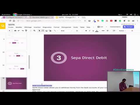 Sepa Direct Debit and Credit Transfer - Odoo Experience 2017