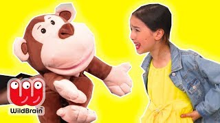 Magic Monkey Puppet Comes To Life 🐵 Magic Potion! - Princesses In Real Life | WildBrain Kiddyzuzaa