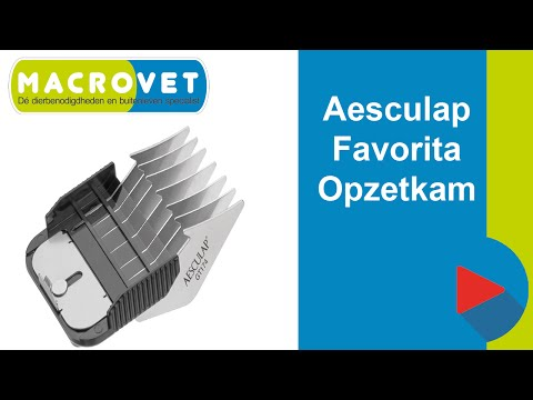 GT170 Aesculap Favorita opzetkammenset 5 delig voor Aesculap Favorita tondeuse