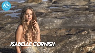 """Sexy Mermaid Isabelle Cornish Urges: """"Relate to Who's on Your Plate"""""""