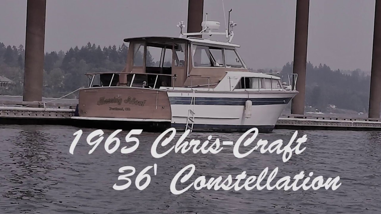 1965 chris craft 36 constellation classic wood cruiser [ 1280 x 720 Pixel ]