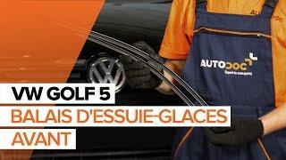 Comment changer Jeu de balais d'essuie-glace VW GOLF V (1K1) - video gratuit en ligne