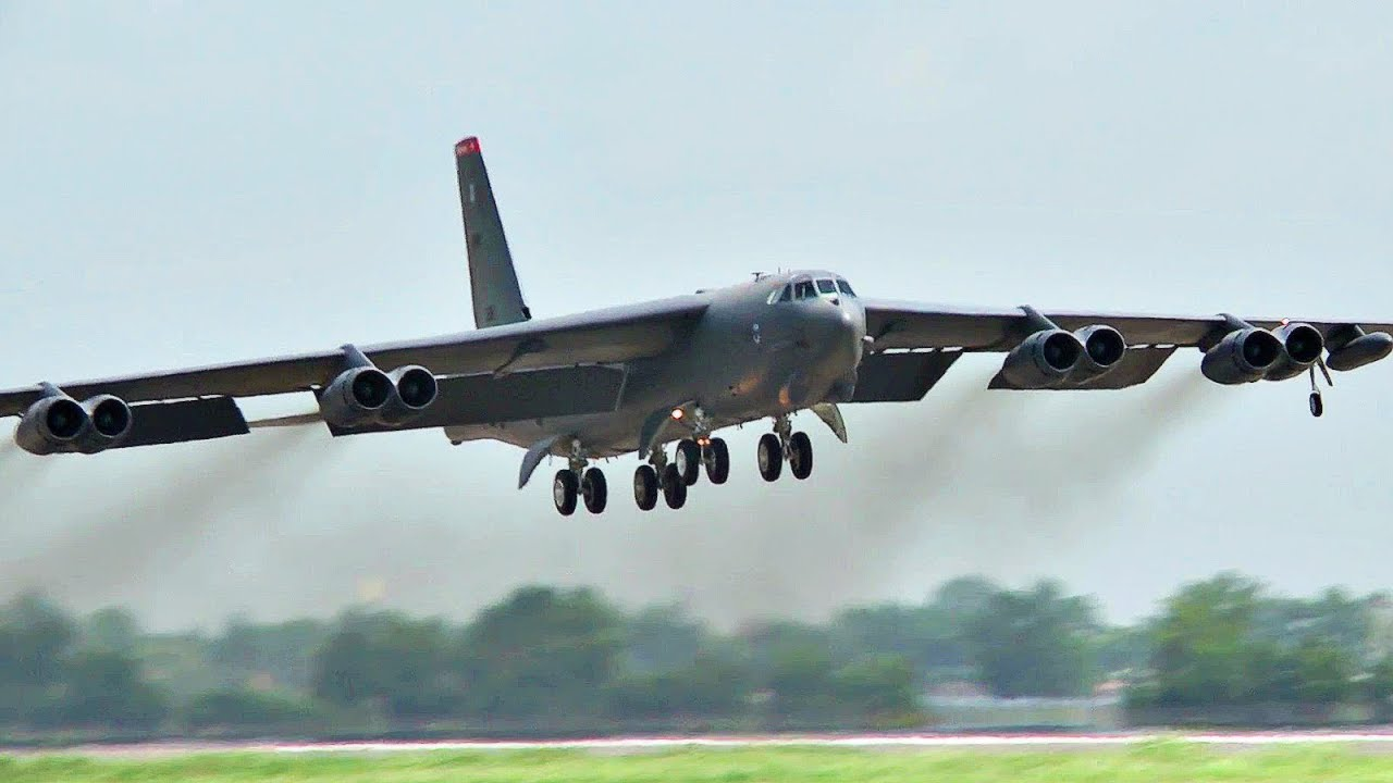 Massive USAF – B-52H Stratofortresses Startup – Barksdale Air Force Base, Oct. 23, 2019