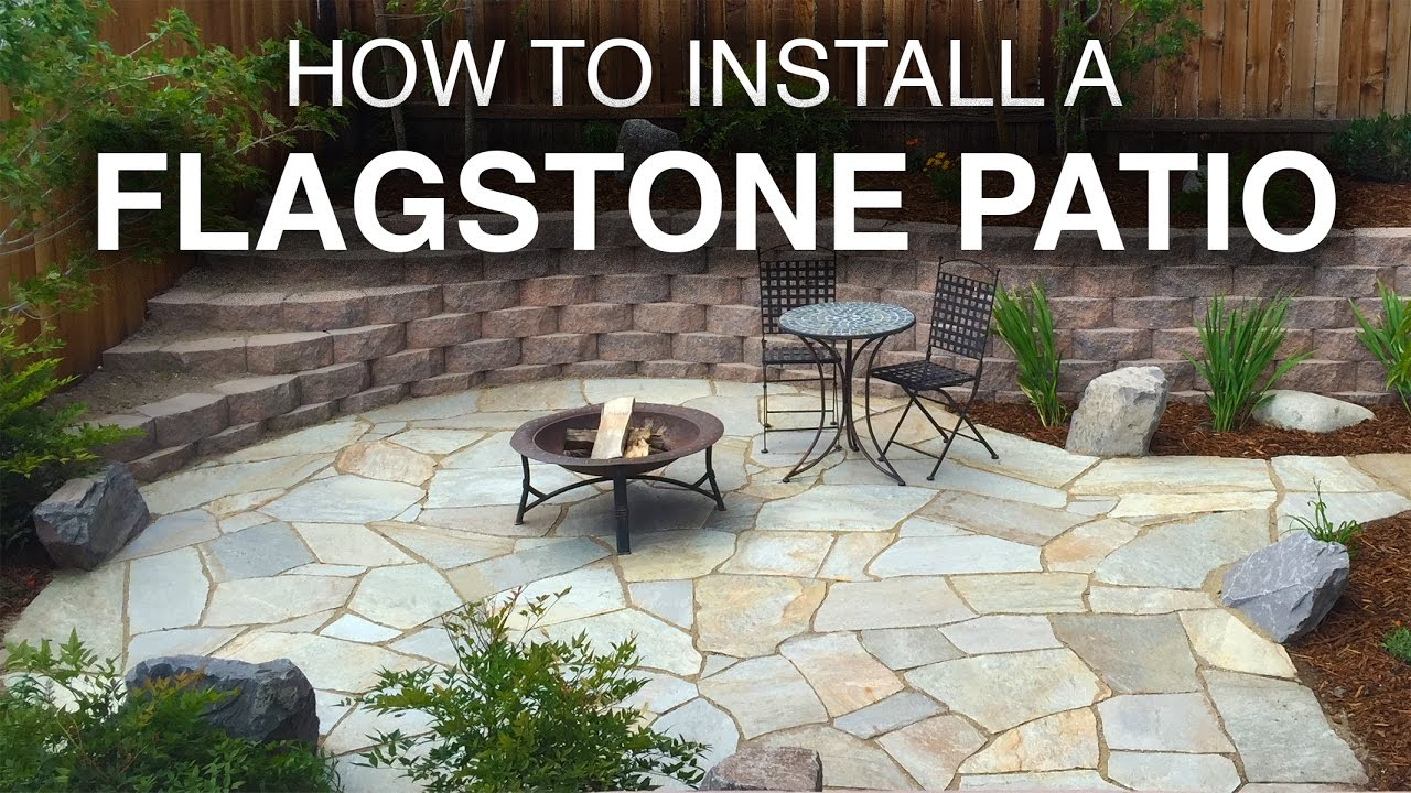 How To Install A Flagstone Patio StepbyStep  YouTube