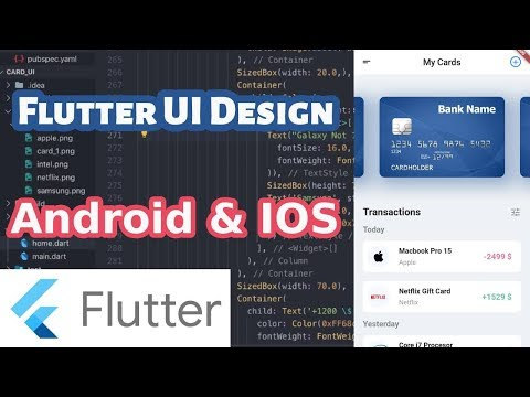 Flutter UI | Transaction App | Flutter Bangla Tutorial | Android IOS App Development | Rasel Ahmed thumbnail