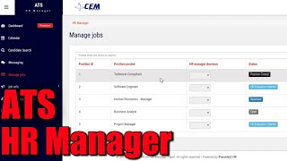 Applicant tracking system - hr manager
