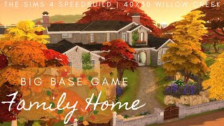 Big Base Game Family Home with Treehouse! - The Sims 4 Speedbuild | NO CC 🏡🌳