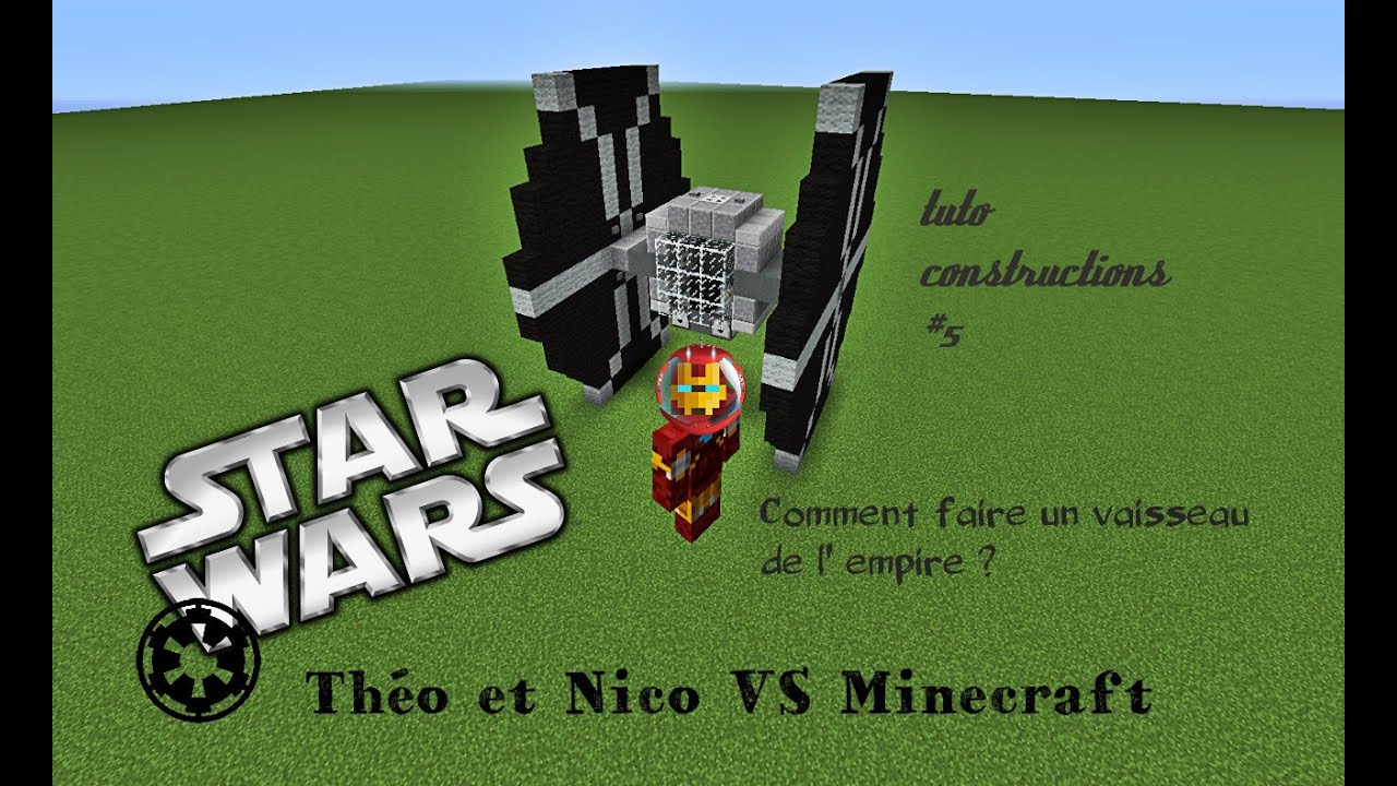 minecraft - tuto construction #5 - comment faire un vaisseau de l