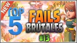 TOP 5: FAILS BRUTALES 💥💥💥#13 + CONSEJOS - A por todas con Clash of Clans - Español - CoC
