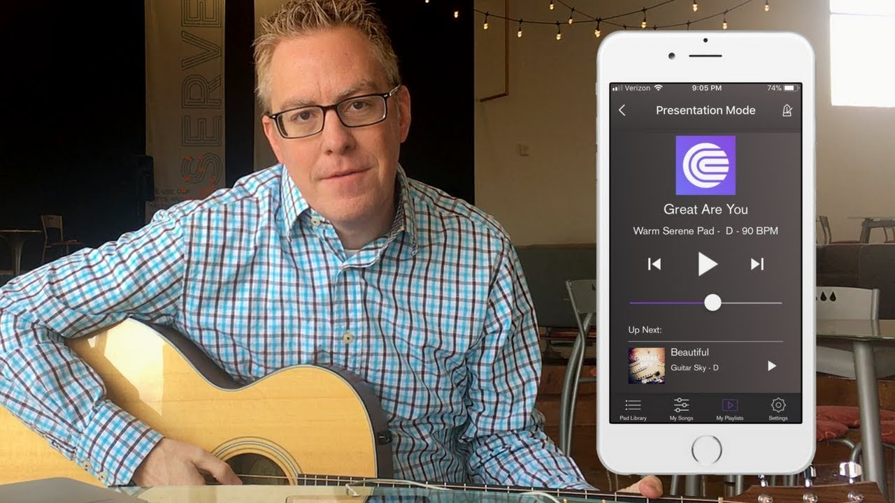 How to easily use ambient drone pads for worship with any iOS device